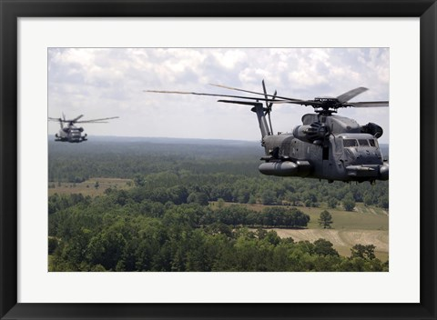 Framed MH-53 Pave Low Helicopters Print