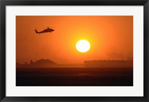 Framed Army Blackhawk Helicopter Print