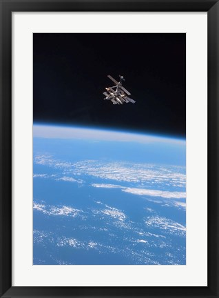 Framed Russia's Mir Space Station Print