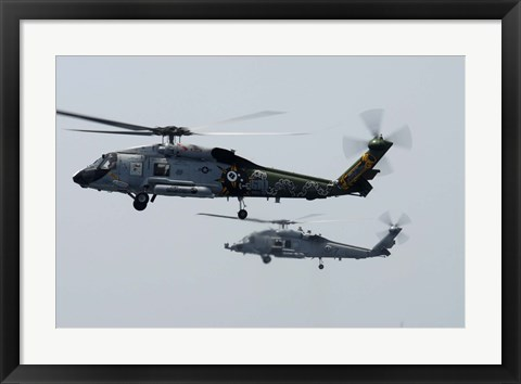 Framed SH-60F and HH-60H Seahawk Print