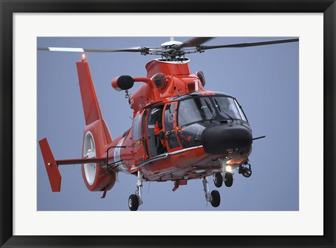 Framed Coast Guard MH-65 Dolphin Print