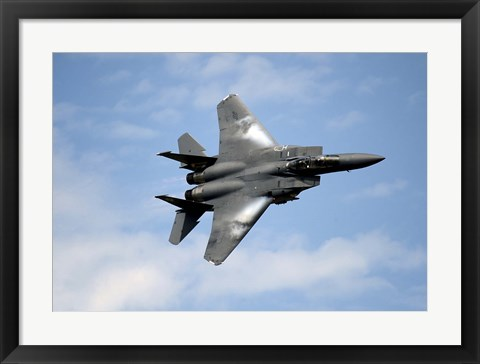 Framed F-15E Strike Eagle Print