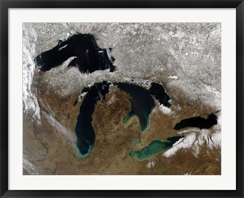Framed Great Lakes Print