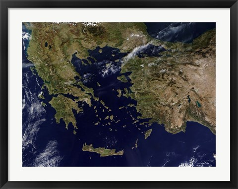 Framed Greece and Turkey Print