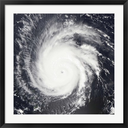 Framed Hurricane Frances Print