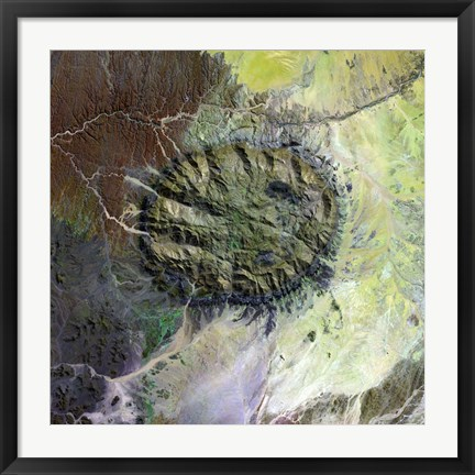 Framed Brandberg Massif in Northen Namibia Print