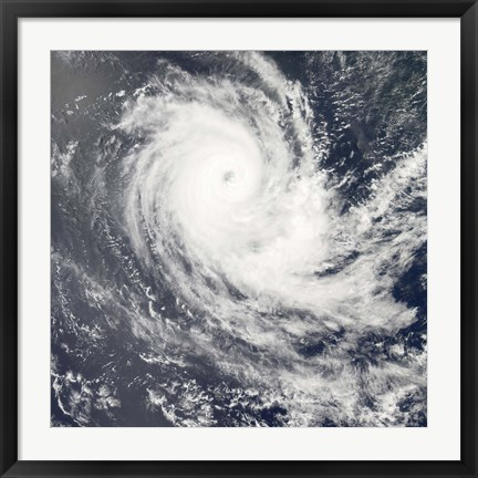 Framed Tropical Cyclone Carina Print