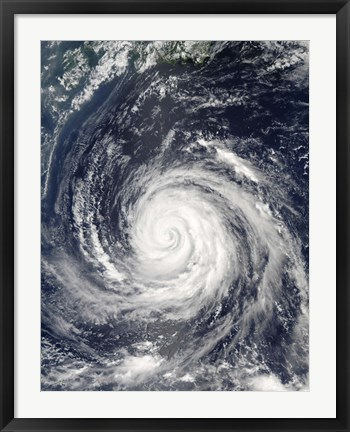 Framed Typhoon Rusa Print