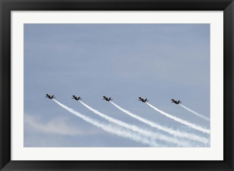 Framed Blue Angels Perform in Air Show Print