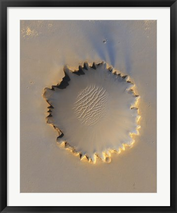Framed Victoria Crater on Mars Print