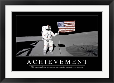 Framed Achievement: Inspirational Quote and Motivational Poster Print
