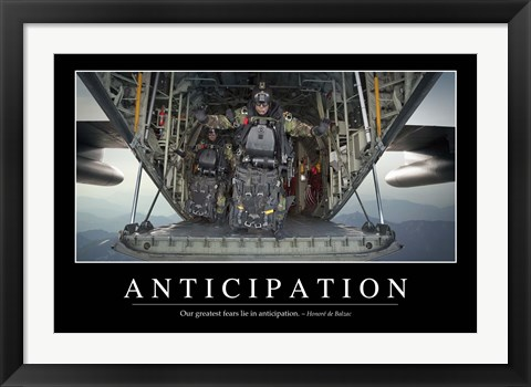 Framed Anticipation: Inspirational Quote and Motivational Poster Print