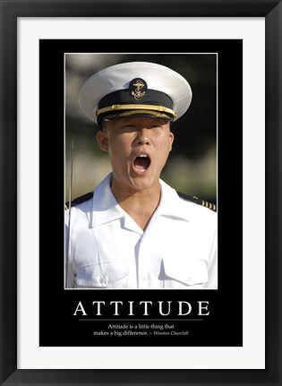 Framed Attitude: Inspirational Quote and Motivational Poster Print