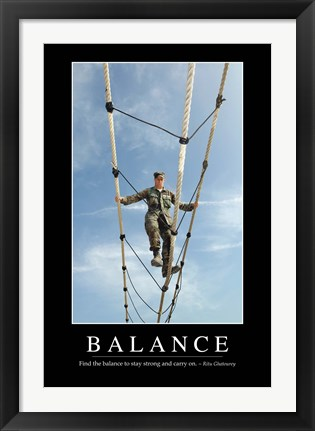 Framed Balance: Inspirational Quote and Motivational Poster Print