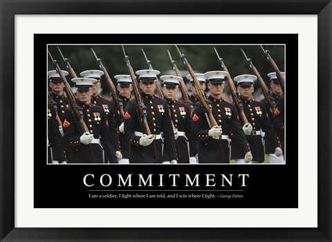 Framed Commitment: Inspirational Quote and Motivational Poster Print
