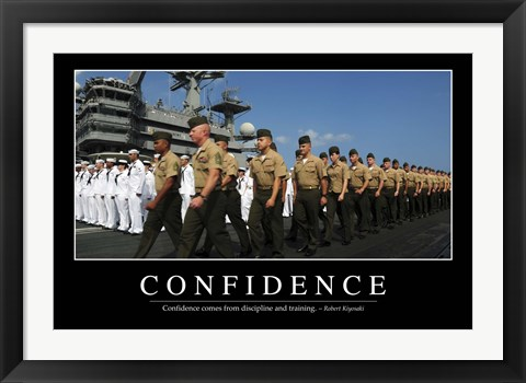 Framed Confidence: Inspirational Quote and Motivational Poster Print
