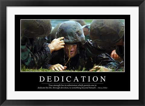 Framed Dedication: Inspirational Quote and Motivational Poster Print