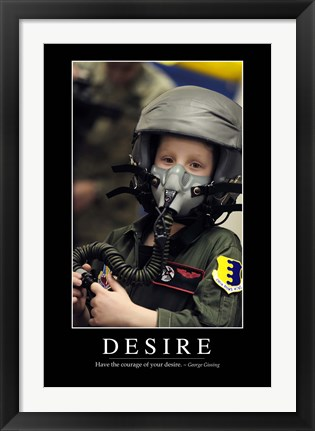 Framed Desire: Inspirational Quote and Motivational Poster Print