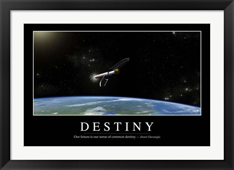 Framed Destiny: Inspirational Quote and Motivational Poster Print