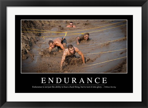 Framed Endurance: Inspirational Quote and Motivational Poster Print