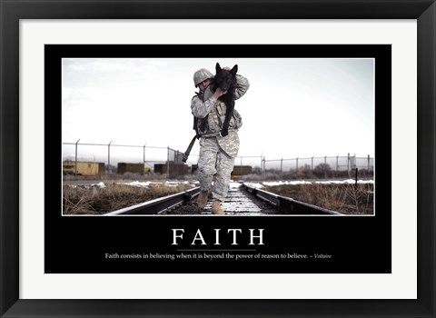 Framed Faith: Inspirational Quote and Motivational Poster Print