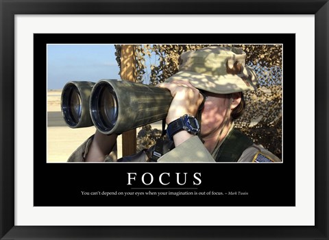 Framed Focus: Inspirational Quote and Motivational Poster Print