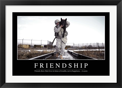 Framed Friendship: Inspirational Quote and Motivational Poster Print