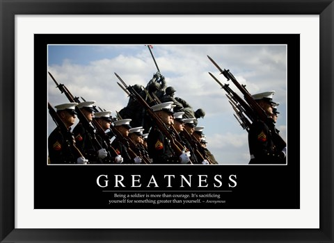 Framed Greatness: Inspirational Quote and Motivational Poster Print
