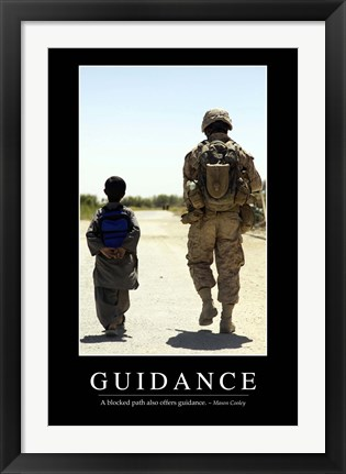 Framed Guidance: Inspirational Quote and Motivational Poster Print