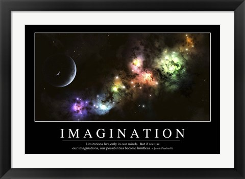Framed Imagination: Inspirational Quote and Motivational Poster Print