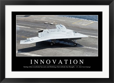 Framed Innovation: Inspirational Quote and Motivational Poster Print