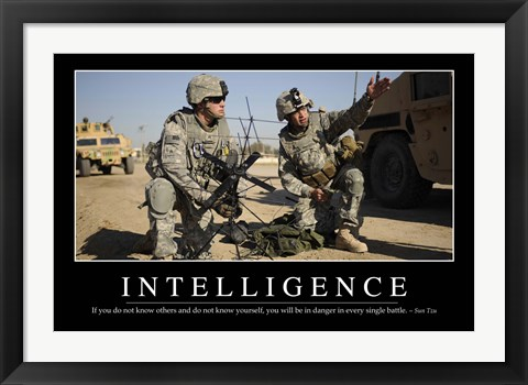 Framed Intelligence: Inspirational Quote and Motivational Poster Print