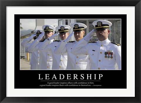 Framed Leadership: Inspirational Quote and Motivational Poster Print