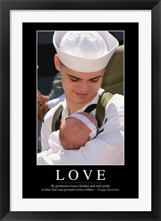 Framed Love: Inspirational Quote and Motivational Poster Print