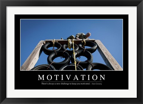 Framed Motivation: Inspirational Quote and Motivational Poster Print