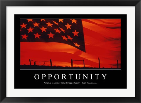 Framed Opportunity: Inspirational Quote and Motivational Poster Print
