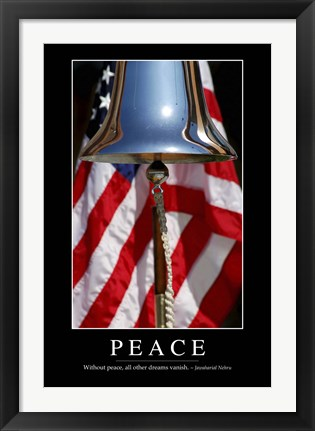 Framed Peace: Inspirational Quote and Motivational Poster Print