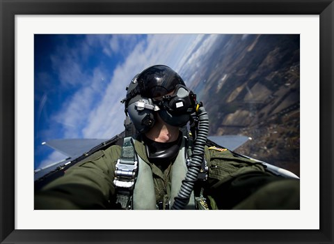 Framed Pilot in F-15E Strike Eagle Print