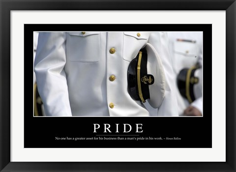 Framed Pride: Inspirational Quote and Motivational Poster Print