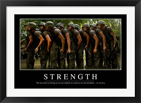 Framed Strength: Inspirational Quote and Motivational Poster Print