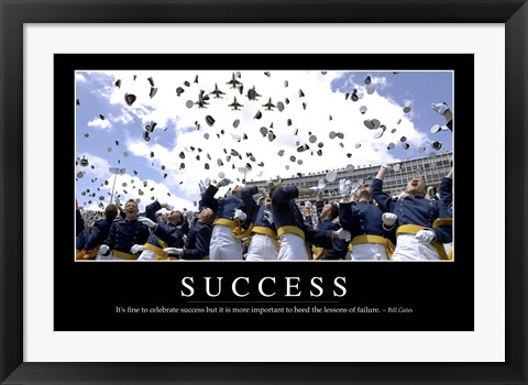 Framed Success: Inspirational Quote and Motivational Poster Print