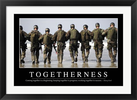 Framed Togetherness: Inspirational Quote and Motivational Poster Print