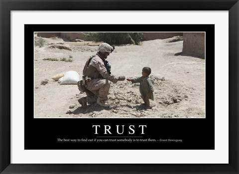 Framed Trust: Inspirational Quote and Motivational Poster Print