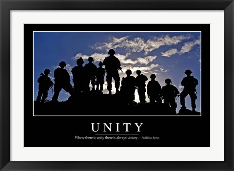 Framed Unity: Inspirational Quote and Motivational Poster Print