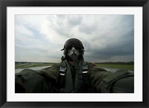 Framed Aerial Combat Photographer Print