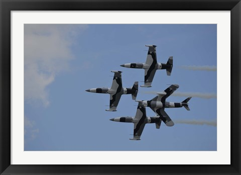 Framed Black Diamond Jet Team Print