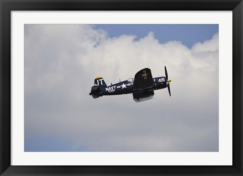 Framed Vought F4U Corsair Print