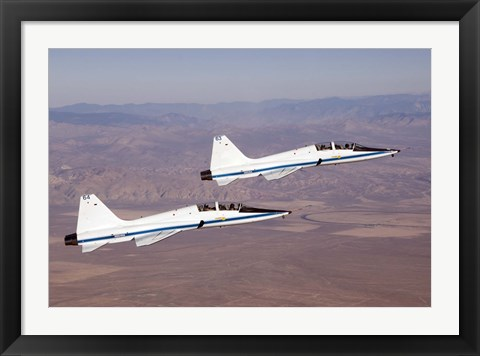 Framed Two T-38A Mission Support Aircraft Print