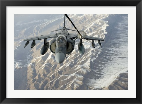 Framed A/V-8B Harrier Print