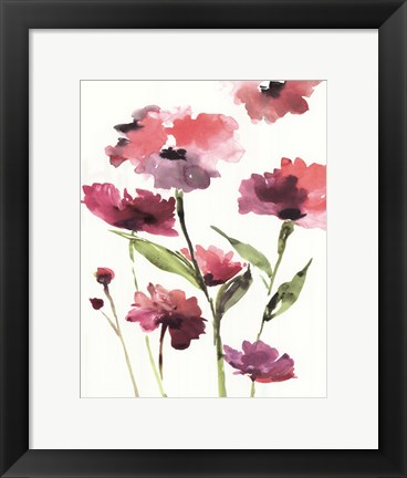 Framed Razzleberry Blossoms Print